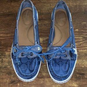 Coach Blue Rainey Boat Shoes | Size 7.5
